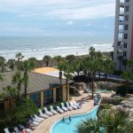 Jacksonville Beach... great view from our balcony!