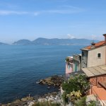 view from the village of Tellaro
