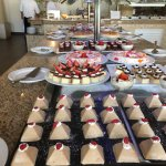 Part of the dessert offerings at the buffet