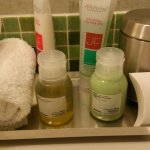 Amenities in bathroom