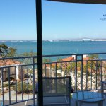 Large end balcony with great view of bay and San Diego. (Booked a partial bay view.) Room 3231