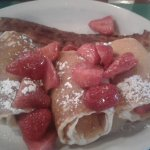 Strawberry crepes with bacon