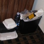 Garbage still in the room from the previous guests