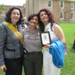 Stanton descendant Coline Jenkins, Superintendent Ami Ghazala, Nadia Shahram
