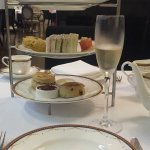 Sandwiches and scones + champagne!!