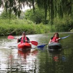 Paddling on the River Stort at Redricks Lakes