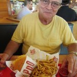 Tom's cheeseburger and ample order of hot, tasty fries