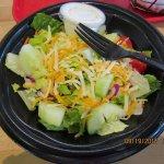 Fresh, crisp salad with blue cheese dressing