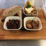selection of our tuesday tapas , 3 dishes for £9..