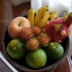 fruit bowl in the room refreshed daily