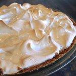 Homemade pies (this is our wonderful lemon meringue)