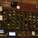 Beer Stein Wall behind the bar