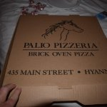 Box with address as we had pizza delivered