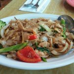 Phad Kee Mao/chicken. Generous lunch portion but lackluster.