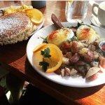 Lemon Ricotta Pancakes & Tuscan Benedict