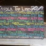 Craft beer list, on tap