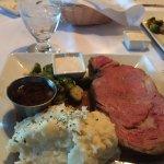 Prime rib dinner at Kayo's (small!!)