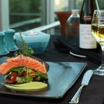 Salmon dish Oceano Restaurant Rutherford Hotel Nelson
