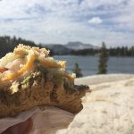 Triple cheese sandwich with avocado in front of cathedral lake. Best lunch you could have.