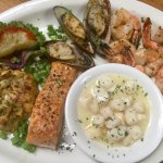 Seafood medley, colossal crab supreme, grilled green lip mussels, garlic shrimp, broiled wild At