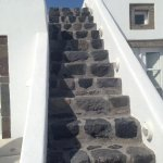 Stairs from Oia footpath to Melanies. They are narrow