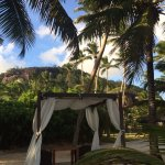 the hotel can organize private dinners in these cabanas