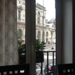 View from breakfast area. Looking out onto the main street