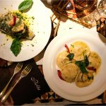 Ravioli Ricotta and Baked Sea Bass