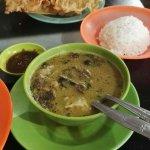 Beef in coconut milk soup (soto sapi)