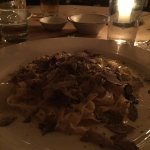 The Tagliatelle with Black Truffles