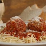 Meatballs served with our homemade traditional red sauce