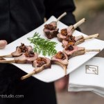 Hand passed hors d'oeuvres at a Mansion on Delaware Avenue wedding