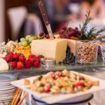 Fruit and cheese at a Mansion on Delaware Avenue wedding