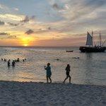 Eagle Beach sunset at La Cabana
