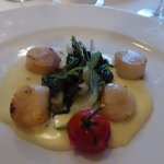 """Sauteed scallops from the """"Summer Menu"""""""