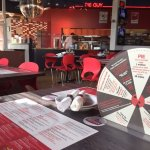 Cool ambiance (& a disco ball!); menus laminated on tables; cool facts to read while waiting