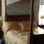 Four poster room and sea view