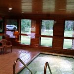 Our inviting Whirlpool with views of the Deer out the back of our property.