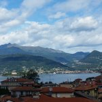 This is a view from my balcony looking at Lago di Maggiore