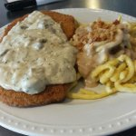 schnitzel plate with spaeztle, so good