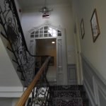 Steps to the second and third floor