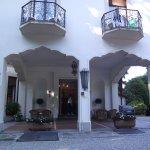 Hotel garden entrance