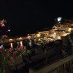 Vista del porto dal terrazzo del ristorante