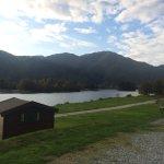 View from camper van door
