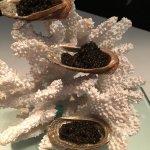 Coral caviar service (25g)
