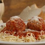 Our Homemade Spaghetti & Meatballs in Our Traditional Red Sauce