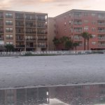 View of the Sandy Shores Condo (on the left) from the beach