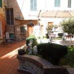 Communal patio - One-bedroom apt Piazza Paradiso, Oct 19-23, 2015