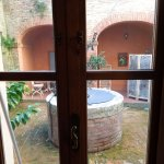 View on private patio from living room,One-bedroom apt, Piazza Paradiso;Oct 19-23, 2015