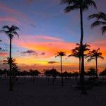 Sunset Afterglow from Manchebo Beach Grounds